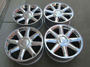 "20"" GMC Yukon Denali Chevy Tahoe Silverado Factory Chrome 2013 Wheels Rims"