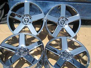 "22"" Dub Baller Chrome Wheels Rims Chevy GM asanti Lexani Velocity Forgiato"