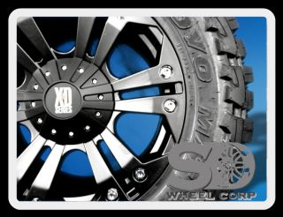 """20"""" XD Monster Black Rims w 35x12 50x20 Toyo Open Country MT Tires Wheels"""