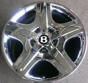 "Single 19"" Bentley GT Factory Chrome Wheel Rim Replacement Used"