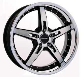 "19"" Rohana RL06 Staggered Wheels 5x114 3 Matte Black Fits Hyundai Genesis Coupe"