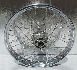 "Harley Davidson 21 inch Spoke Chrome Softail Wheel Rim 21"" Heritage Fatboy"