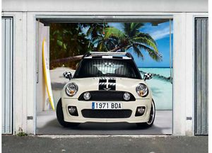 3D Effect Garage Door Billboard Cover Sticker Vehicle Mini Car 8 04x6 89 Feet