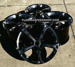 """Brand New 18 19"""" Factory GM Black Chrome Grand Sport Wheels Corvette"""
