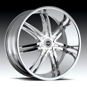 20 inch Strada Diablo Chrome Wheels Rims 6x4 5 6x114 3 Durango Dakota Xterra