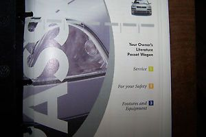 2004 VW Passat Wagon Owners Manual Parts Service Book