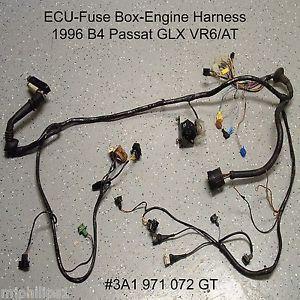 VW VR6 2 8L AAA B4 Engine Bay Engine Wiring Harness OBD2 Passat ECU Fuse Box