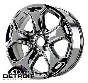 """Ford Edge 18"""" Chrome Wheels Rims Factory Wheels PVD Chrome Set 4"""