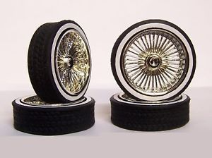 Hoppin Hydros 1 18 Scale Chrome Playaz Whitewall Wheels Rims Tires Model Cars