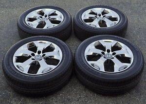 "Honda Crosstour 18"" Chrome Wheels Rims Tires Factory Stock Wheels 64003"