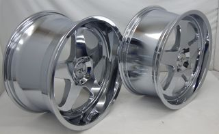 "Chrome Mustang ® Saleen SC Wheels 18"" Deep Dish Rims 18 inch 4 Lug 1987 1993"