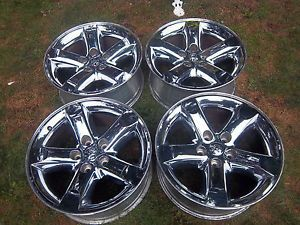 20 Dodge RAM 1500 Hemi Factory Chrome Clad Wheels Rims Durango 02 12 2267