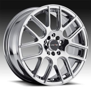 """17"""" inch 4x100 4x4 5 Phantom Chrome PVD Wheels Rims 4 Lug Honda Nissan Toyota"""