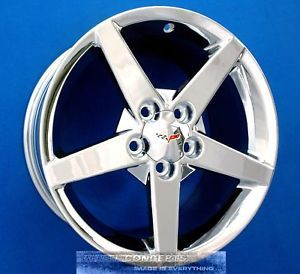 Corvette C6 18 19 inch Chrome Wheels Rims '05 2010 OE Staggered 18x8 5 19x10