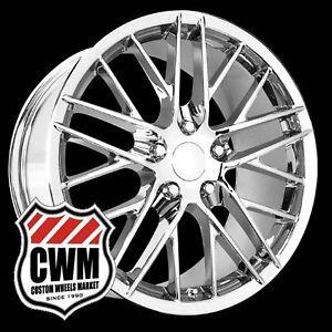 """18x8 5"""" 19x10"""" Corvette C6 ZR1 Style Chrome Wheels Rims Fit Corvette C6 2005"""