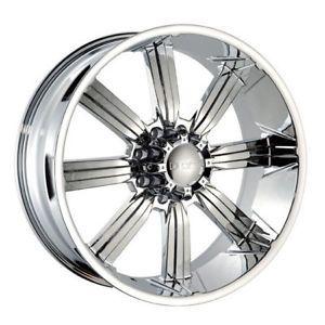 "20""x10"" Dcenti 903 Chrome 8 Lug Wheels Rims Hummer H2 Chevy Dodge Ford 22 24 18"