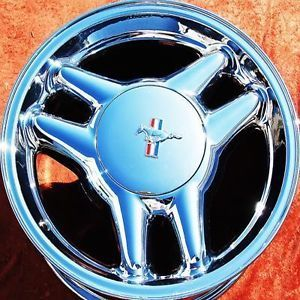 """17"""" Ford Mustang GT Chrome Wheels Rims Set Exchange"""