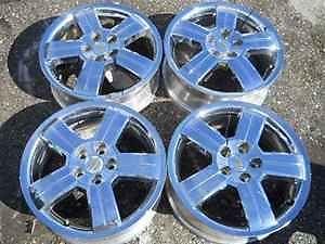 """Chevrolet HHR 17"""" Chrome Alloy Wheel Rim Set LKQ"""