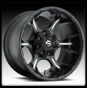 "20"" Fuel Dune Milled Wheels Rims BFG BFGoodrich Lt 325 60 20 TA KO A T Tires"