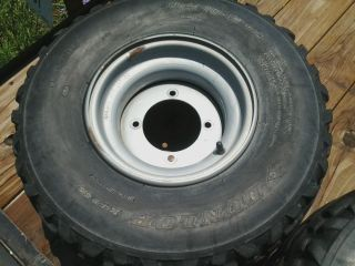 Kawasaki Mule ATV Tire and Wheel Dunlop Used
