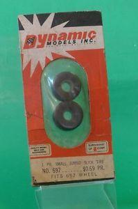 Vintage Dynamic Models Inc Slot Car Racing 697 Small Jumbo Slick Tires AMT