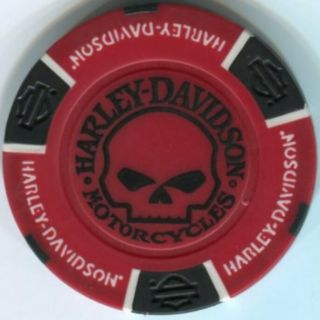 2 Colors Harley Davidson Willie G Skull Poker Chip Samples Set 222