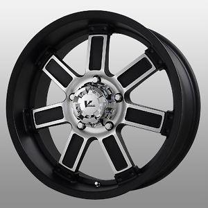 20 inch V Rock Diesel Black Wheels Rims 5x5 5 5x139 7 Dodge RAM 1500 Ford Bronco