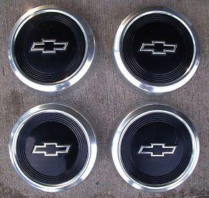 "Nice Set Vintage GM Chevrolet Chevy Truck Van Car 10 1 2"" Hub Caps Dog Dish"