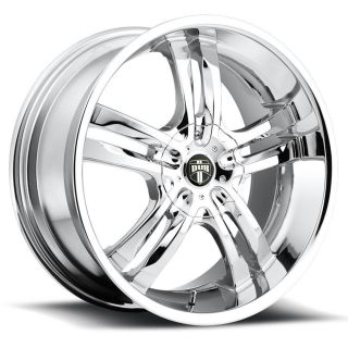 18x8 Chrome Dub Phase 5 S104 Wheels 5x4 5 5x120 35 Chevrolet Camaro Equinox