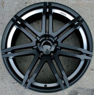 "ASA GT4 20"" Black Rims Wheels Audi A4 A6 Passat VW"