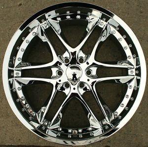 Akuza Blade 381 24 x 10 Chrome Rims Wheels GMC Yukon Denali XL 07 Up 6H 25