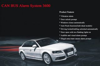 Can Bus Alarm System for Toyota Camry Alarm Car Security Tool OBD Computer Cable