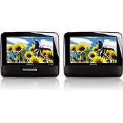 """Philips PD7012 Portable Car DVD Player with Dual Screens 7"""" Widescreen"""