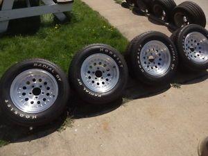 "15x7"" American Racing Aluminum Mod Wheels Hoosier Tires Chevy"