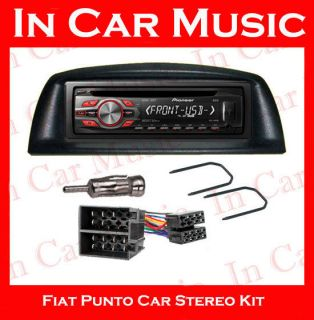 Fiat Punto Car Stereo Fitting Kit with Pioneer  WMA USB Aux Stereo CD Player
