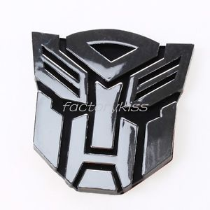 Car Chrome Autobot Logo