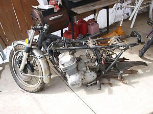 Early 1974 Honda CB750 Chopper Bobber Project Parts Bike on