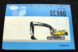 Original Volvo EC360 EC 360 Hydraulic Excavator Parts Catalog Manual