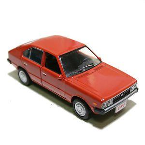 Hyundai Classic Car Pony Diecast Model Car Miniature Minicar Pullback Wheel Red