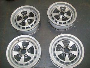 "Used Set of 4 1974 1987 Jaguar XJ6 Wheels Rims 15"" 59648"