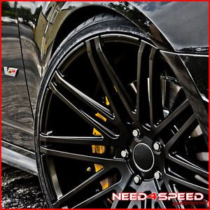 "22"" Cadillac cts V Coupe XO Milan Matte Black Concave Wheels Rims"