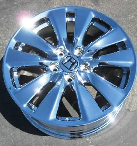 "Set of 4 2012 17"" Factory Honda Accord Chrome Wheels Rims Acura CL TL TSX 64015"
