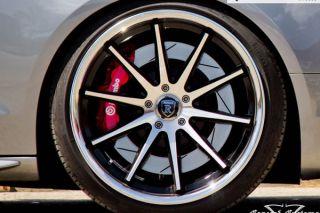 """20"""" Audi D3 A8 Rohana RC10 Matte Black Concave Wheels Rims"""