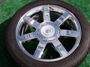 Set 4 Real Genuine GM Factory Cadillac Escalade Chrome 22 inch Wheels Tires