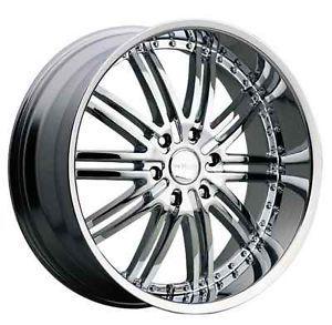 "20x8 5"" Menzari Z08 Vim 5x120 Camaro Corvette cts XLR Equinox Chrome Wheels Rims"