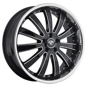 "22"" A2K 725 Wheels 5x115 Chrysler Dodge Charger 300 C Staggered w Lip"