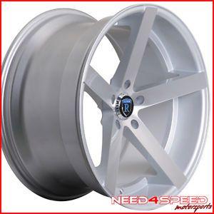 "20"" Nissan Maxima Rohana RC22 Deep Concave Silver Staggered Wheels Rims"