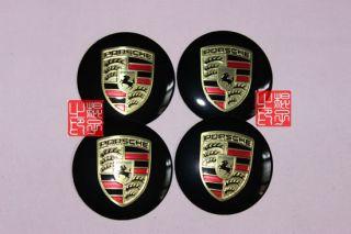 4pcs Porsche Car Wheel Center Cap Decal Stickers Emblem Badge Diameter 55mm