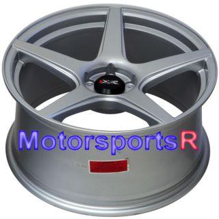 18 18x8 75 XXR 535 Silver Concave Wheels Rims 5x100 13 14 Scion FRS Subaru BRZ
