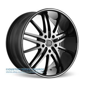 "20"" Velocity VW910 Black Wheel Tire Package Rims Pontiac Lincoln Scion Toyota"